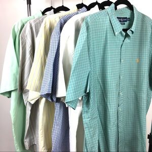 6 Ralph Lauren short sleeve button down shirts